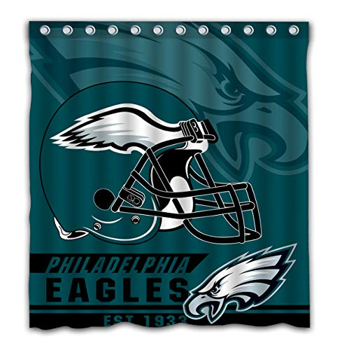 Felikey Custom Philadelphia Eagles Waterproof Mildew Proof Shower Curtain with Color Bathroom Decoration Size of 66x72 Inches