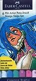 Faber-Castell Manga Shojo Pitt Artist Brush Pens 6-Pack: Colors