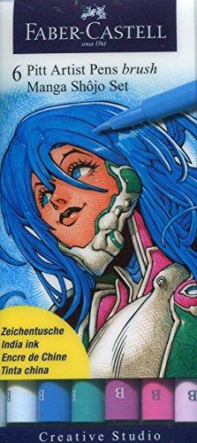 Manga Shojo Pitt Artist Brush Pens 6-Pack: (Pitt Manga)