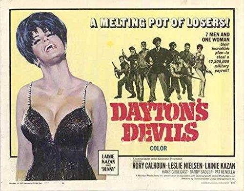 Dayton's Devils POSTER Movie (1968) Style A 11 x 14 Inches - 28cm x 36cm (Rory Calhoun)(Leslie Nielsen)(Lainie Kazan)(Eric (Hans Gudegast) Braeden)(Georg Stanford Brown)(Rigg Kennedy)
