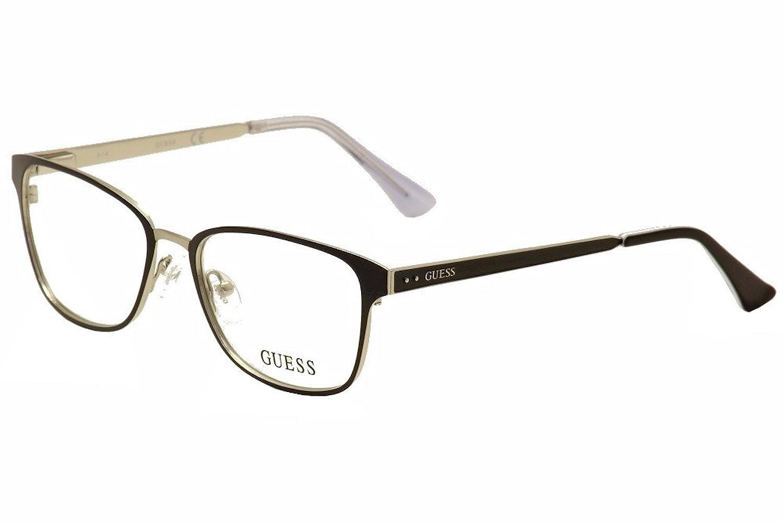 Guess Eyeglasses GU2550 GU/2550 002 Black/Silver Full Rim Optical ...