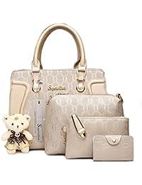 Handbag for Women Tote Bag Shoulder Bags Satchel 4pcs Purse Set