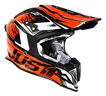 JUST1 casco J12 Dominator, Naranja, tamaño 60-L