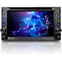 Corehan 6.2 Touchscreen in Dash Double Din GPS Navigation Vehicle Car Dvd Player Stereo Reciver with Bluetooth USB