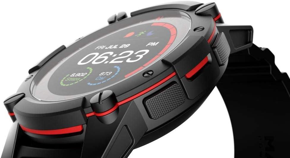 PowerWatch 2 - Reloj inteligente, Reloj Deportivo, Carga Solar/Termoeléctrico, Control de Rendimiento, Medición de Temperatura Corporal, GPS y Altitud, iOS y Android