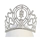 Angels Garment Girls Silver Tone Rhinestone Gorgeous Shape Tiara Headpiece
