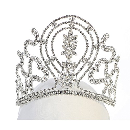 Angels Garment Girls Silver Tone Rhinestone Gorgeous Shape Tiara Headpiece by Angels Garment
