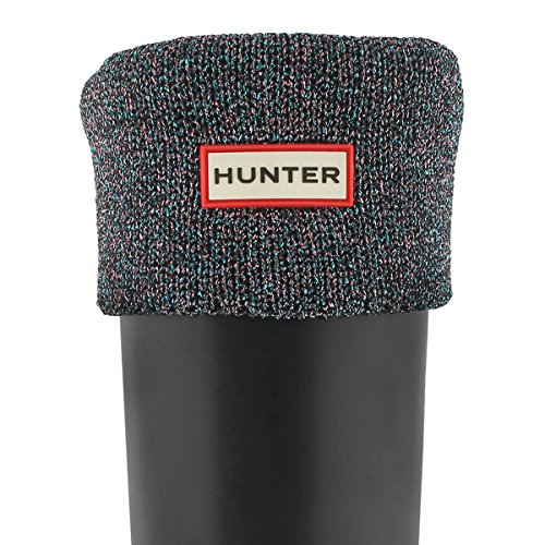 Hunter Women s Glitter Cuff Welly Boot Socks Black Multi Large -