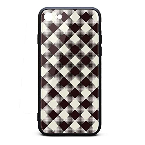 Phone Case for iPhone 6/6S Beautiful Brown British Plaid Lattice TPU Gel Full Body Protection Best Anti-Scratch Fashionable Glossy Anti Slip Thin Shockproof Soft Case