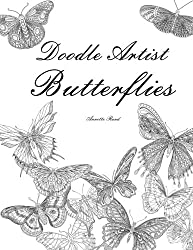 Doodle Artist - Butterflies: Colouring for grown ups