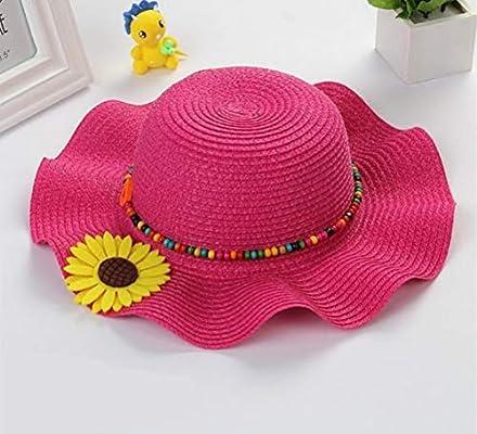 Ss Gorra de Paja para niña, diseño de Girasol, Sombrero de Verano ...