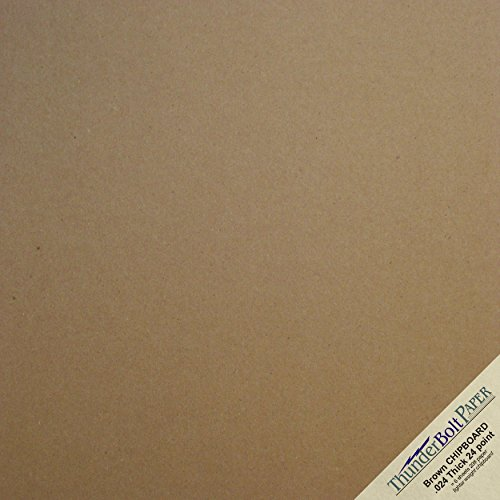 25 Sheets Chipboard 24pt (point) 12 X 12 Inches Light (Chipboard Covers)