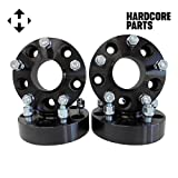 Smart Parts 4 QTY Black Wheel Spacers Adapters 3'' (1.5 inch Per Side) fits all 5x5 (5x127) Hubcentric vehicle to 5x5 wheel patterns with 1/2 x 20 threads fits Jeep Wrangler JK Rubicon