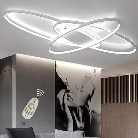 Amazon.com: Lámpara de techo LED de 46 W, diseño ovalado ...