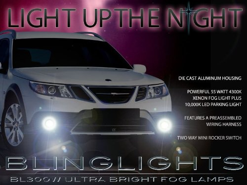 (2008 2009 2010 2011 2012 Saab 9-3 93 Fog Lamps Lights Foglamps Sport Sedan Convertible Aero Turbo4)