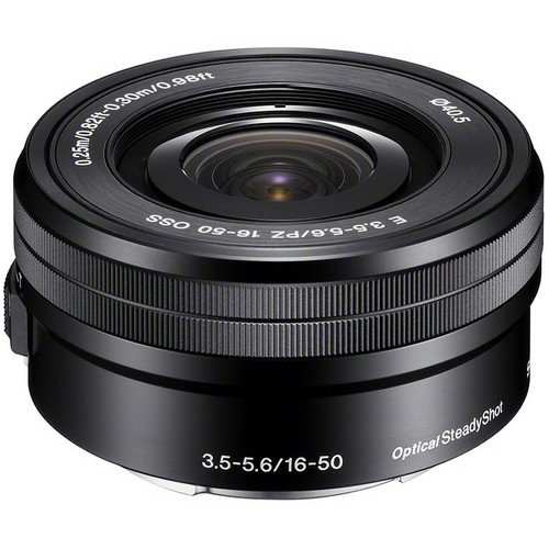 Sony SELP1650 16-50mm Power Zoom Lens (Black, Bulk Packaging) – International Version (No Warranty)