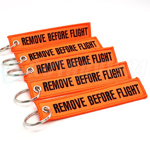 [해외]비행 전에 제거 Keychain - NEON Orange Black 5PCS by Rotary13B1/Remove Before Flight Keychain - NEON Orange Black 5PCS by Rotary