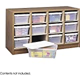 12-bin Laminate-finished Wooden Organizer (19' x 34' x 13') by Safco , 9452MO