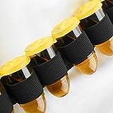 Shot Bandolier Belt with 28 Bullet Shot Cups | Shot Belt, Shooter Belt, Party Shot Glasses | Bullet Shaped Plastic Shot Glasses in a Novelty Bandolier Belt