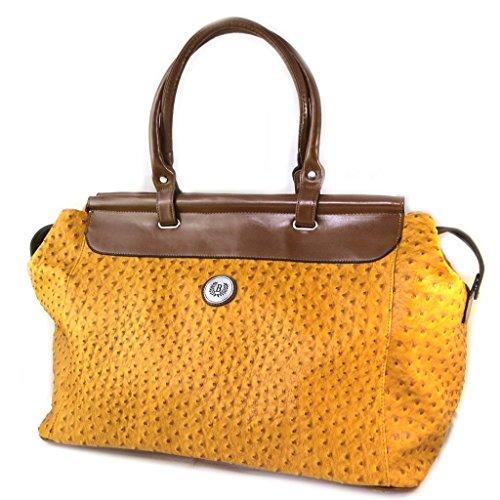 Progettista bag Scarlettgiallo senape struzzo - 60x33x27 cm.