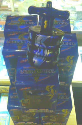 Amazing Dozen(12) of the Most Spectacular Laser Dreidel/Draydel Ever Made! Wow all Your Kids, Grandchildren and Friends with the Amazing Laser Dreidel with Music and Lights!