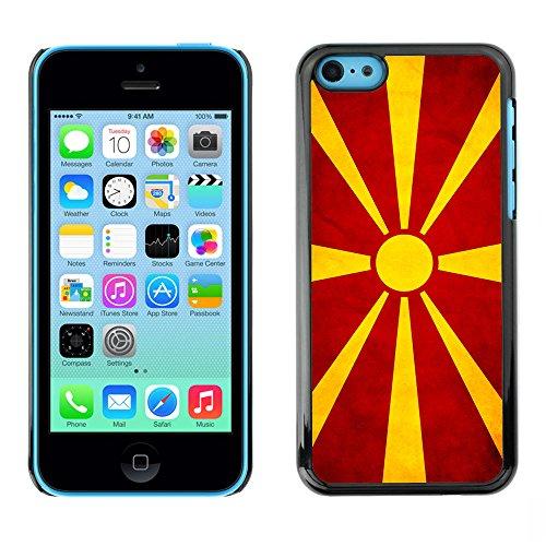 Omega Case PC Polycarbonate Cas Coque Drapeau - Apple iPhone 5C ( Macedonian Grunge Flag )