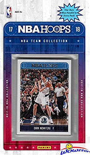 fan products of Dallas Mavericks 2017/18 Panini Hoops NBA Basketball EXCLUSIVE Factory Sealed Limited Edition 11 Card Team Set with Dennis Smith Jr. ROOKIE,Dirk Nowitzki & Many More! Shipped in Bubble Mailer! WOWZZER