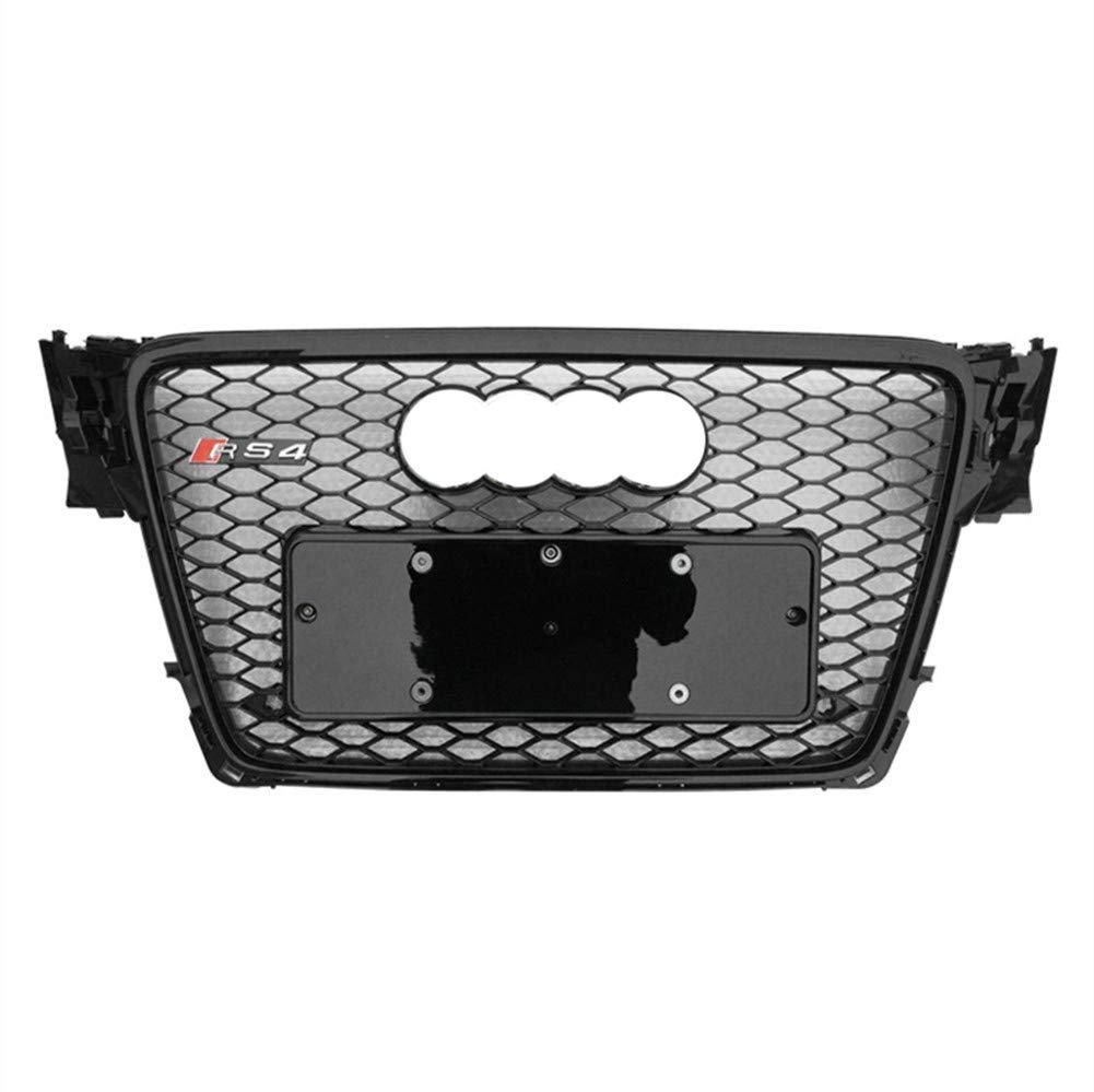 Xinshuo Rejilla del radiador de malla tipo ABS tipo panal de ABS para RS4 estilo A4 S4 B8 2009-2012