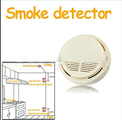 DSstyles Security Wireless Smoke Gas Alarm Sensor Leak Detector 433 Mhz Work With Alarm System