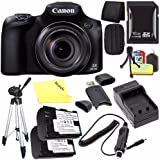 Canon PowerShot SX60 HS Digital Camera 9543B001 + Battery + Charger + 16GB SDHC Card + Small Case + Tripod + Card Reader (International Model)