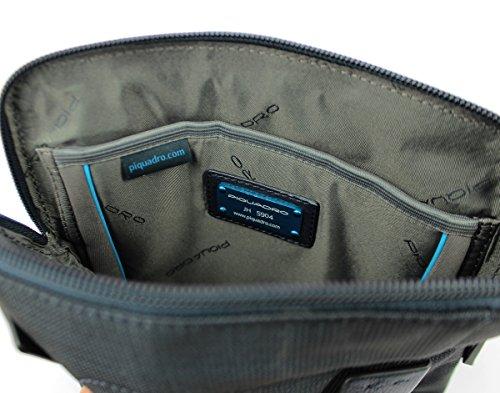 Hombre Blu bandolera UNICA CA1358P16 Piquadro Azul con Bolso Chev wI8AcqPU