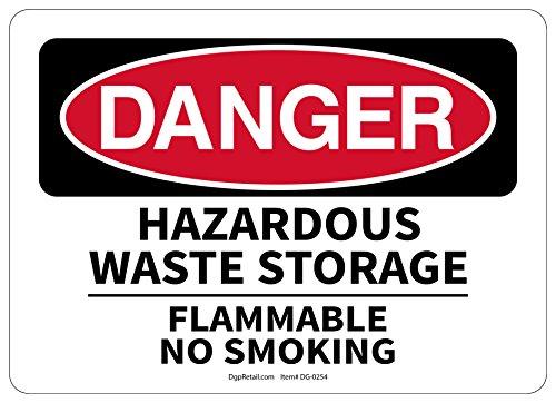 OSHA DANGER SAFETY SIGN HAZARDOUS WASTE STORAGE FLAMMABLE NO (Osha Flammable Storage)