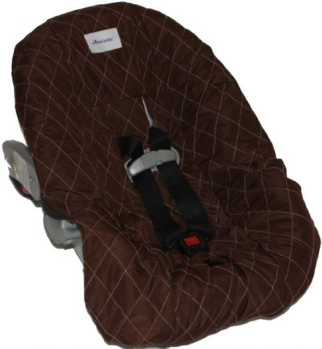 Nomie Baby Car Seat Cover, Brown/Pink, Infant (Nomie Infant Car Seat Cover)