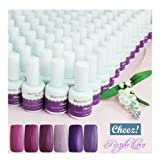 ''Purple Love'' Series Cheez! Soak-off Color UV Gel Polish CODE: Cheez!_Purple_...