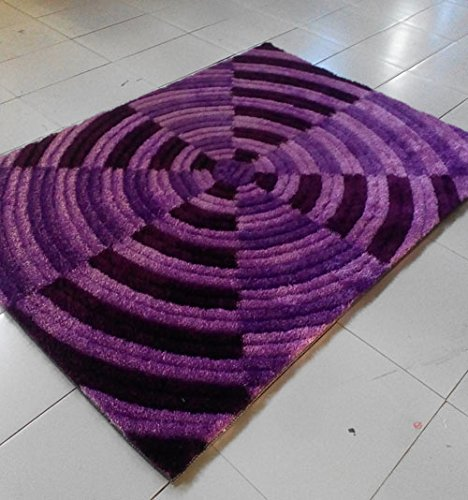 Cheap Homemusthaves Purple Super Soft Modern Shag Shaggy Modern Contemporary Area Rugs Living Room Carpet Bedroom Rug Home Decorator Floor Rug and Carpets Hand Carved (8×10 Feet)
