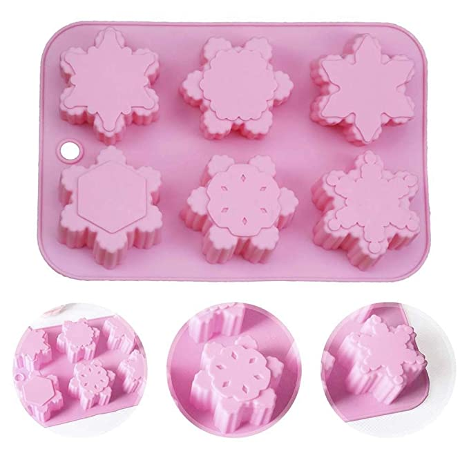 iStary DIY Material Silastic Moho Different Patrones Christmas Snowflake Oriental Cherry Shaped Silicone Cake Molde Handmade Soap Mold Hecho A Mano: ...