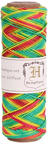 Hemptique (HEMP0) Hemp Cord Spool Variegated 10# 205 Feet/Pkg-Rasta