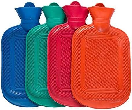 Rubber Hot Water Bag Hand Warming Water Bottles Winter Thermal Sack Hot Water Bottles@Random Color_34.5x18cm