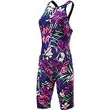 TYR ALFC6A Women's Avictor Lava Closed Black Swimsuit, Purple/Pink - 32