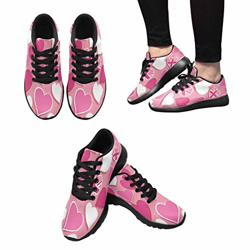 Interestprint Femmes Jogging Running Sneaker Léger Aller Facile Confort De Marche Sport Chaussures De Course Multi 14
