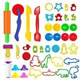 Pandapia 44 PCS Play Dough doh Tools Playsets with Molds Cutters