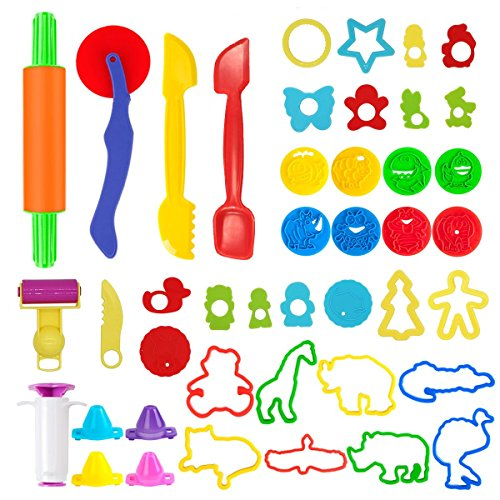 Pandapia Play Dough doh Tools Set with Molds Models 44 PCS