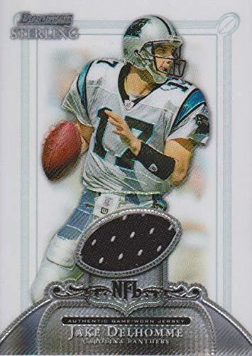 Jake Delhomme player worn jersey patch football card (Carolina Panthers) 2006 Bowman Sterling #BSJD