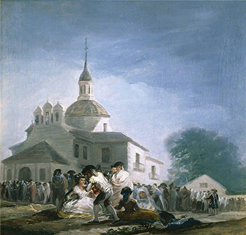 The High Quality Polyster Canvas Of Oil Painting 'Goya Y Lucientes Francisco De Saint Isidore's Day At The Saint's Hermitage 1787 88 ' ,size: 12 X 13 Inch / 30 (Saint Isidore Costume)