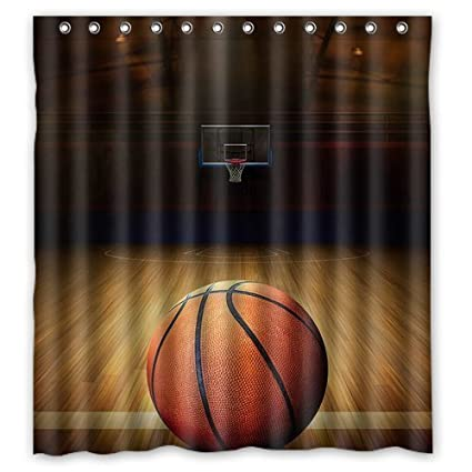 Amazon WelcomeWaterproof Decorative Basketball Shower Curtain
