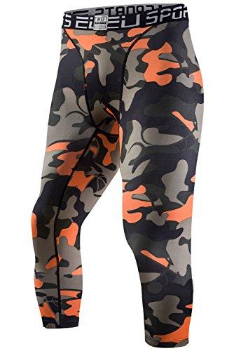 Compression Capri Tights Orange Medium product image