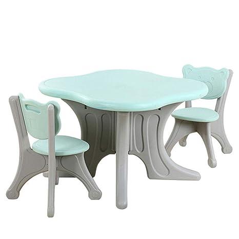 Amazon.com: ZH Juego de mesa y silla para niños, mesa de ...
