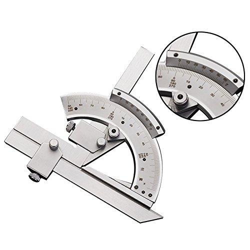 BAOSHISHAN 0-320 cursor Angle ruler stainless steel Angle gauge for both interior and exterior angle