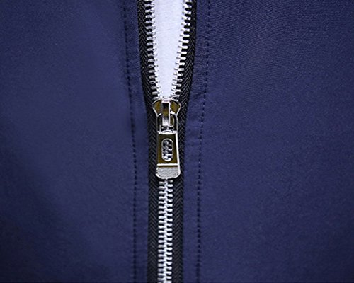 Semplice Giacca Classic Outwear Blu Manica Uomo Marino Colore Softshell Lunga Solido XU7qO