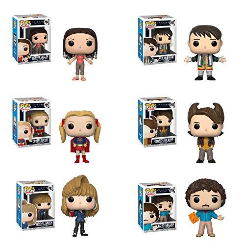 POP! Television: Friends S2 Rachel Green, Ross Geller Chandler Bing, Phoebe Buffay, Monica Geller, Joey Tribbiani Vinyl Figures Set ()